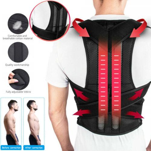 Women Men V Back Posture Magnetic Shoulder Corrector Support Brace Belt Therapy Health & Beauty