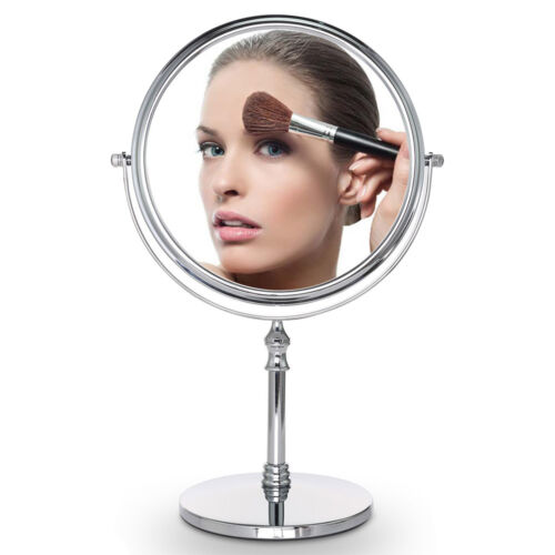 8in Double Side 10x Magnifying Make Up Cosmetic Mirror 360° Rotation Table Stand Health & Beauty