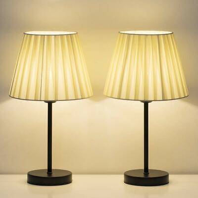 Classic Desk Table Lamp Beside Nightstand Bedroom Livingroom Office Gift  2 Sets Classic Desk Lamp