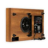 """Theater Solutions SUB8SM Home Theater Powered 8"""" Slim Subwoofer Mahogany Sub"""