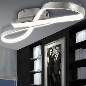 LED 15W Design Decken Beleuchtung Schleifen Bad Leuchte Haus Flur Strahler Lampe