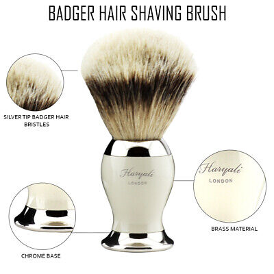 Men Shaving Beard Brush Best Silvertip Badger Hair Shave Razor Barber SPA