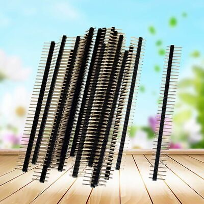 20pcs 2.54mm 40 Pin Single Row Male Breakable Pin Header Connector Strip