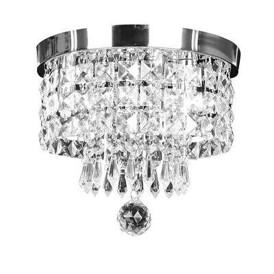 Luxury Round Crystal Pendant Light Flush Mount Ceiling Lamp Fixture Chandelier  Bedroom Ceiling Lamp