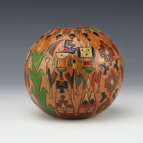 NATIVE AMERICAN NAVAJO POTTERY SEED POT BY IRENE & KEN WHITE
