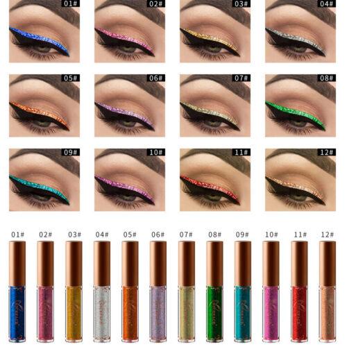 Liquid Eyeliner Glitter Eye Liner Metallic Color Waterproof
