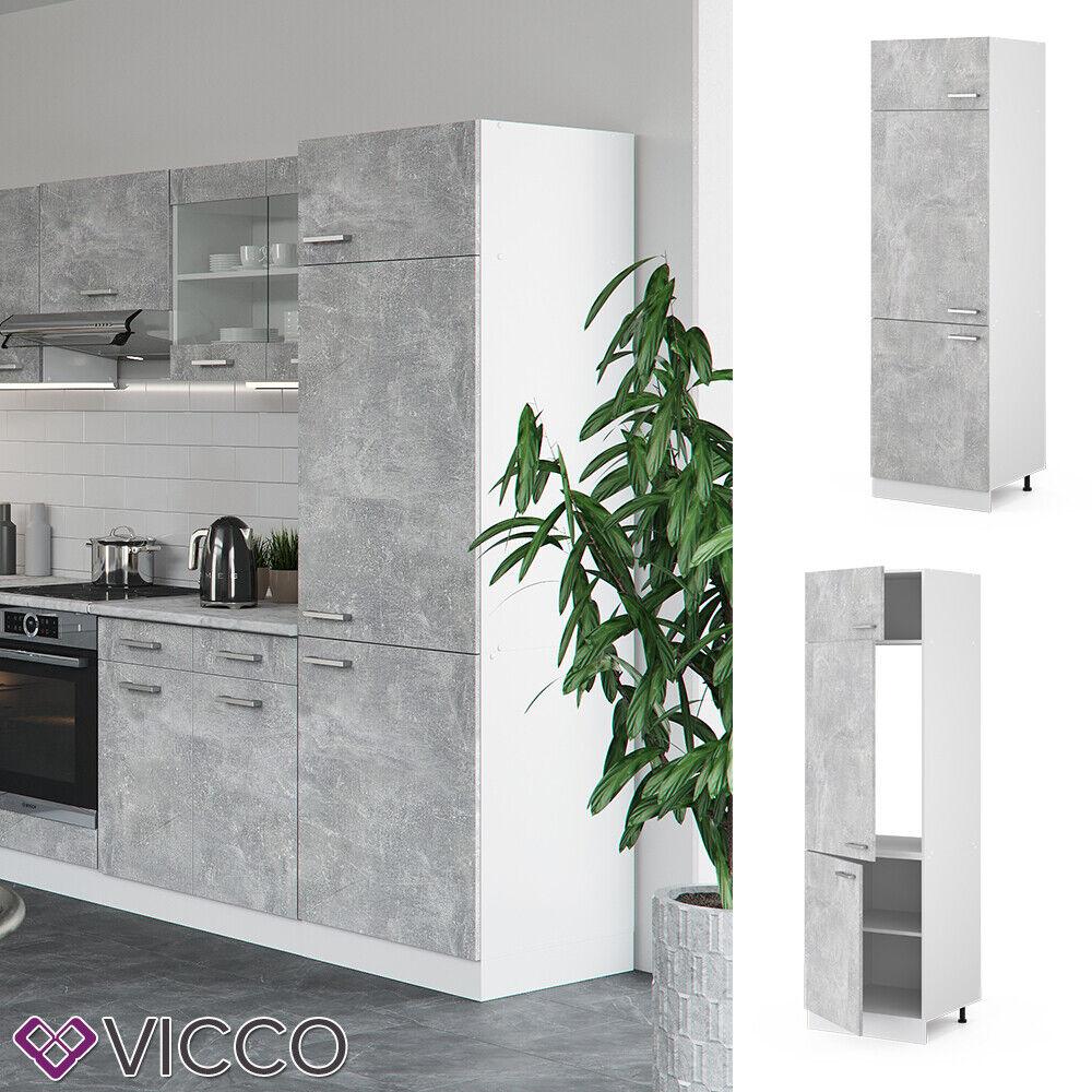 VICCO Küchenschrank Hängeschrank Unterschrank Küchenzeile R-Line Kühlumbauschrank 60 cm beton