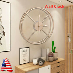 Decorative Wall Clock 3D DIY Vintage Metal Clock Roman Numerals Large 40cm