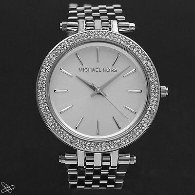 Michael Kors MK3190 Darci Damen Armbanduhr Farbe: Silber mit Kristall Besatz ()