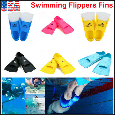 Adult Youth Snorkeling Diving Swimming Training Silicone Gel Swim Fins Flippers (Silicone Fins)