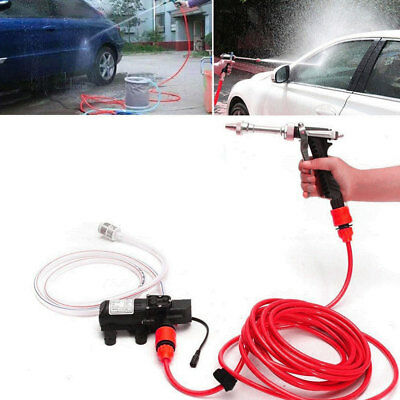 Portable 12V Car High Pressure Washer Water Pump Kit Jet Wash Cleaner Hose Van