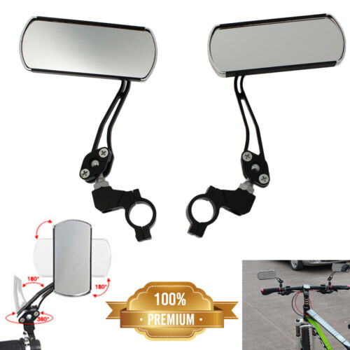 2Pcs Cycling Bicycle Handlebar Flexible Safety Rear View Rearview Mirrors