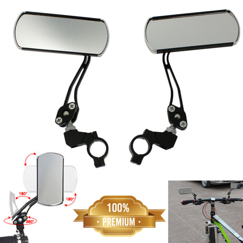 2Pcs 360°Rotate Bike Bicycle Cycling Rear View Mirror Handlebar Safety Rearview