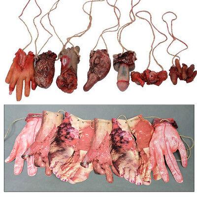Halloween Deko Blutige Horror Arm Hand Abgetrennte Körper Gliedmaßen Grusel Prop