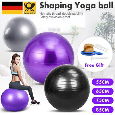 Gymnastikball 65 75 85 cm /300 kg Bürostuhl Sitzball Fitnessball Pilates + Pumpe