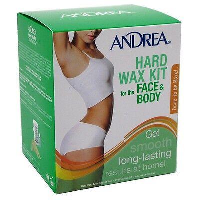 Andrea Hard Wax Kit for Face - Body 8 oz
