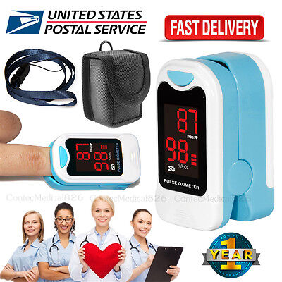 Fingertip Pulse Oximeter Spo2 Pulse Rate Monitor Oxymeter Blood Oxigen Meter,USA