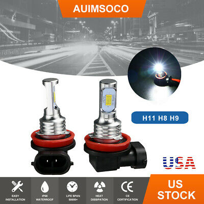 Car LED Lights Headlight Fog Bulbs DRL H11 Parts Accessories 6000K White Bulbs