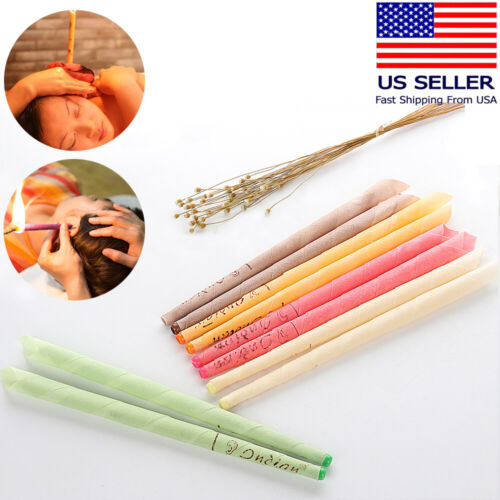 40PCS Ear Wax Cleaner Removal Coning Fragrance Candles Hollow Cleaning Healthy