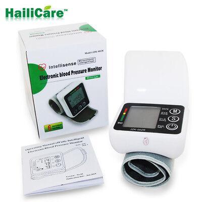 Digital Automatic Wrist Cuff Blood Pressure Monitor Heart Beat Rate Pulse Meter