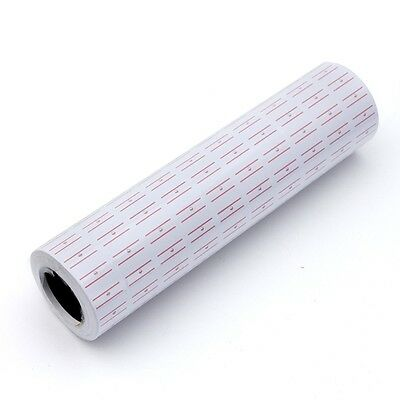 5000pcs White Red Line Tags Labels Refill Mx-5500 Gun Markdown Price Sticker