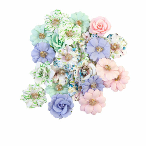 Prima Flowers - Watercolor Floral - TINY COLORS - Mulberry Paper -24 pcs #653101