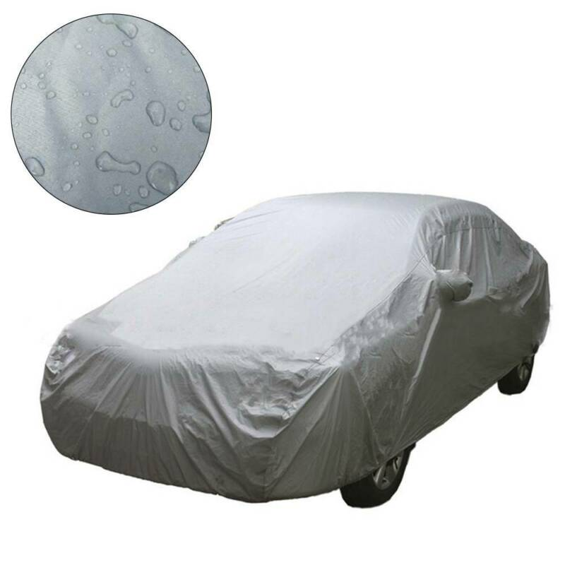 Universal Waterproof Full Car Cover Large Breathable UV Protect Indoor Outdoor M