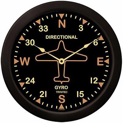 "Trintec Massive 14"" Aviation Vintage Directional Gyro Wall Clock 9062v-14 Aviatr"
