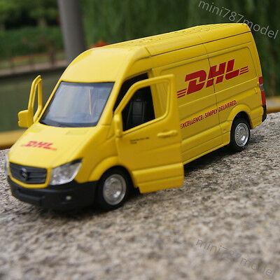 Mercedes Benz Sprinter Van Dhl Model Cars 5  Alloy Diecast Open Three Door Toys