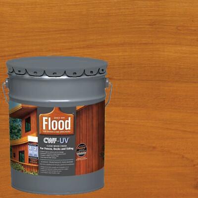 5 gal. cedar tone cwf-uv oil based exterior wood finish | paint stain flood deck
