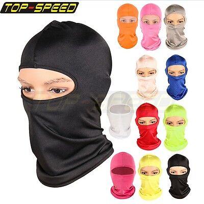 Outdoor Ski Motorcycle Cycling Balaclava Full Face Mask Neck Ultra Thin