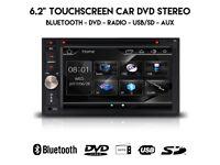 6.2 Inch HD Double Din Car Audio Stereo Bluetooth CD DVD Player USB SD Aux Car 2-DIN Radio Headunit