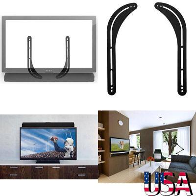 Steel Above Mount - Universal Steel Sound bar Soundbar Speaker Bracket Mount Above Below TV Holder