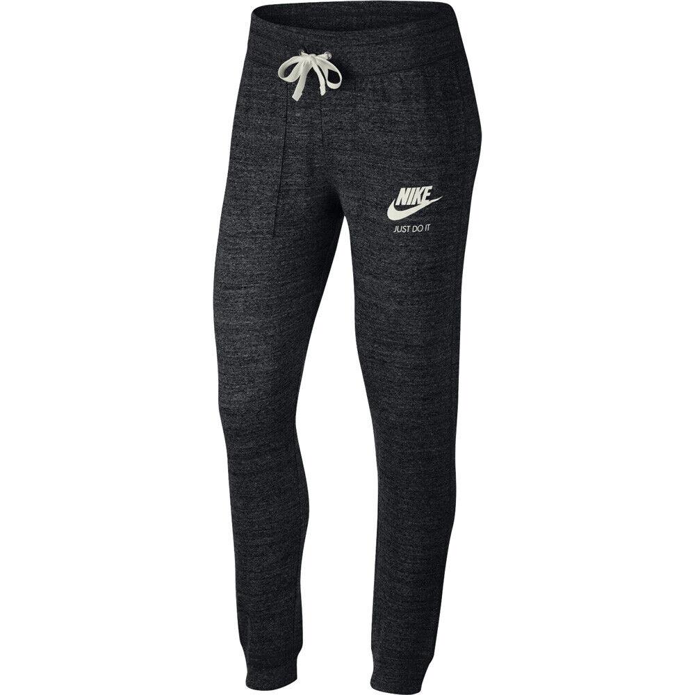 Nike Gym Vintage Damen Trainingshose Jogginghose Fitnesshose Pant schwarz 883731