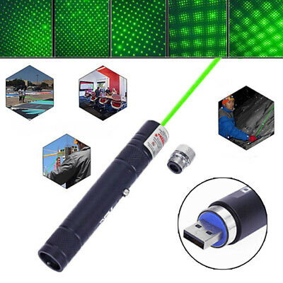 900 Miles Green Laser Pointer 532nm Star Beam Light Lazer Pen Usb Rechargeable