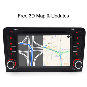 DVD GPS Sat Nav system Car Stereo Radio for AUDI A3(2003-2013) S3 RS3 RNSE-PU