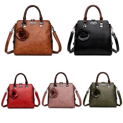 Echt-leder-handtasche Tote Bag (Damen Vintage Echt Leder Handtasche Crossbody Bag Tote Schulter Geldbörse)