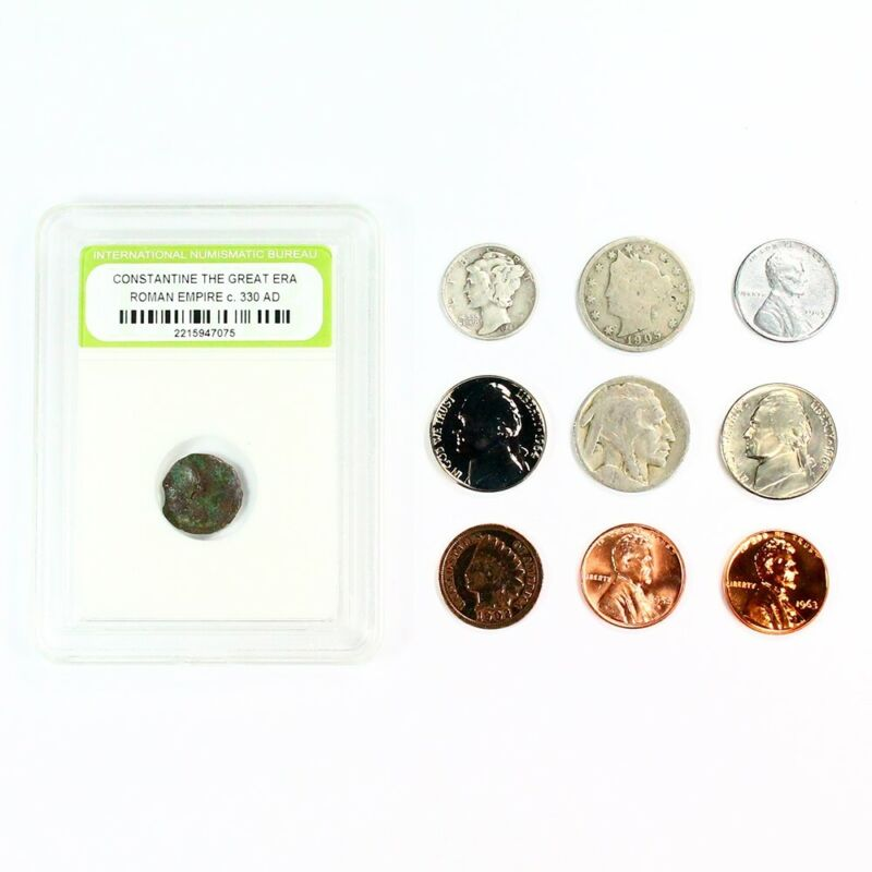 Mercury Silver Dime Starter Collection Lot of 9 Old US Coins + Bonus & Free S/H