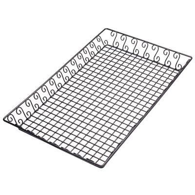 """American Metalcraft Rectangular Basket - American Metalcraft (SBBL13202) 13"""" x 20"""" Rectangular Wrought Iron Scroll Basket"""
