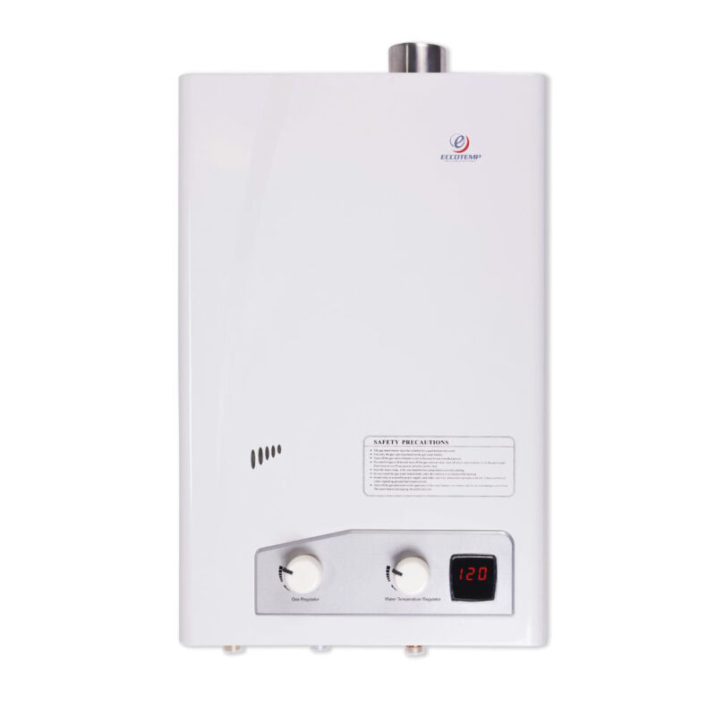 Eccotemp Home Liquid Propane Powered Tankless Hot Water Heater, White(For Parts)