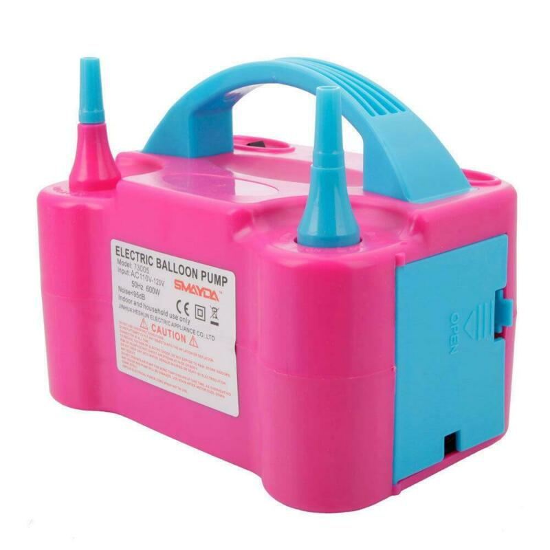 110V Two Nozzle Color Air Blower Electric Balloon Inflator Pump Banquet /Party