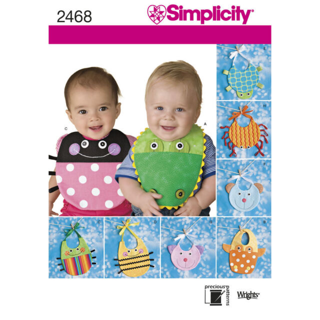 Simplicity SEWING PATTERN 2468 Novelty Baby Bibs