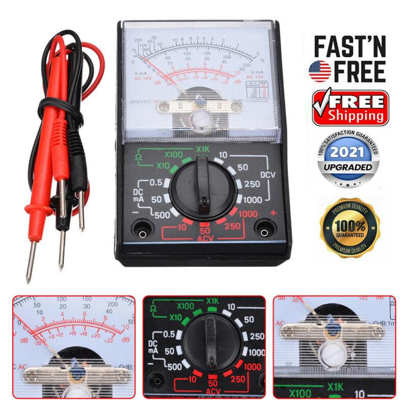 MF-110A Pointer Analog Multimeter AC/DC Voltage Voltmeter Ammeter OHM Tester US