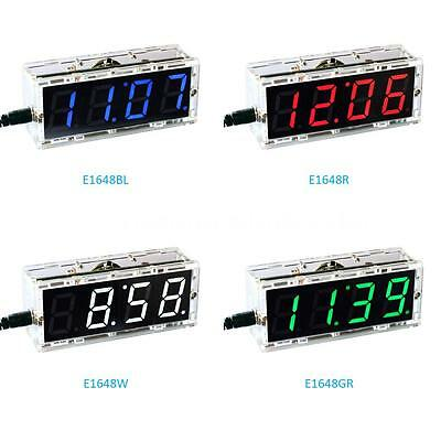 4-digit Digital LED Talking Clock DIY Kit Light Control Temp Date Time DC 5V USB