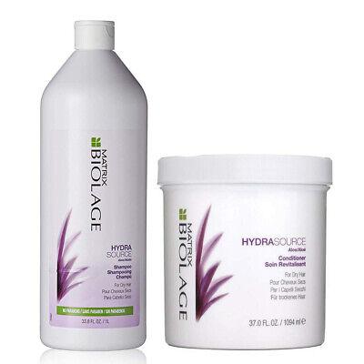 Matrix Biolage HydraSource Shampoo 33.8oz & Conditioner For Dry Hair 37oz