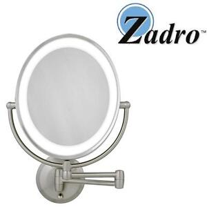 NEW ZADRO LIGHTED OVAL MIRROR LED LIGHTED DOUBLE SIDED OVAL MIRROR 109024431