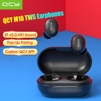 QCY True Wireless Bluetooth Earphones TWS BT5.0 Music Headset With Charging Box