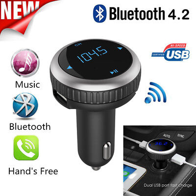KFZ Bluetooth FM Transmitter Auto Radio MP3 Musik Player 2 USB Adapter Car Kit