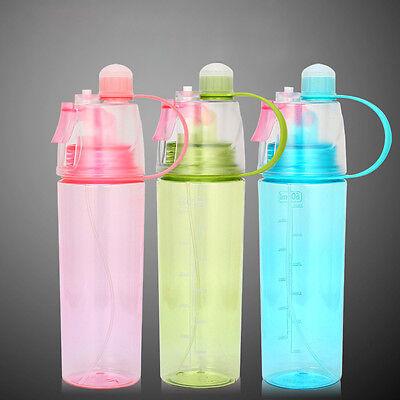 Sport Cycling Mist Spray Water Gym Beach Bottle Leak-proof Drinking Cup Portable