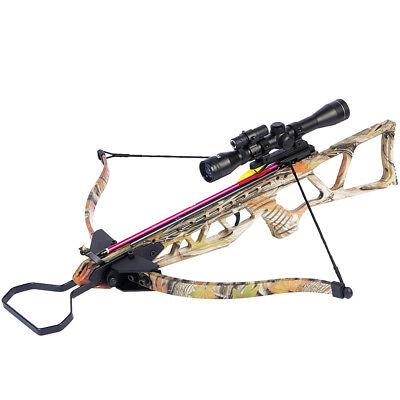 180 LB ARCHERY HUNTING 210 FPS BOW Gun CROSSBOW w ARROW BOLTS LASER SCOPE
